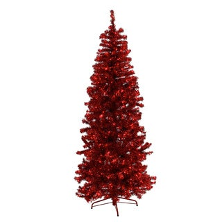 Red Tinsel Tree
