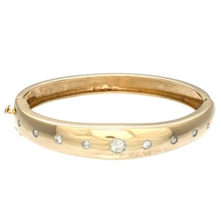 14k Yellow Gold 3/4ct TDW Diamond Bangle Estate Bracelet (H-I, SI1-SI2)
