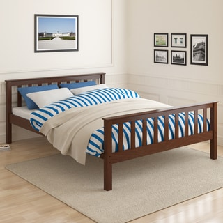 CorLiving Monterey Espresso Solid Wood Queen Bed