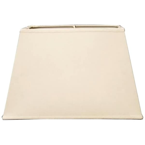 Hardback Khaki Square-cut Fabric Lamp Shade