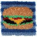 Wonderart Latch Hook Kit 12 X12 - Hamburger