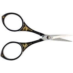 Heirloom Embroidery Scissors 4 - Gunmetal & Gold Round Handle