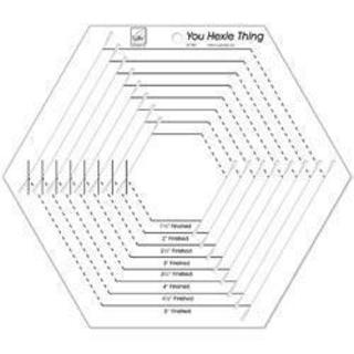 You Hexie Thing Hexagon Ruler -