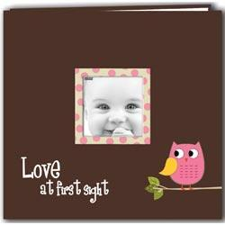 Baby Owl Printed Design Postbound Scrapbook Album 12 X12 - Pink