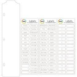 Project Life Scrapbook Dividers & Label Stickers 15/Pkg -