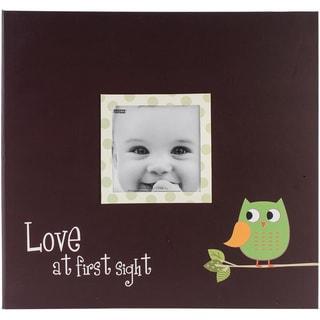 Baby Owl Printed Design Postbound Scrapbook Album 12 X12 - Green