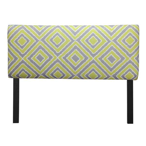Upholstered Nouveau Wasabi Headboard