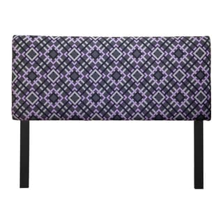 Upholstered Pierre Pewter Headboard