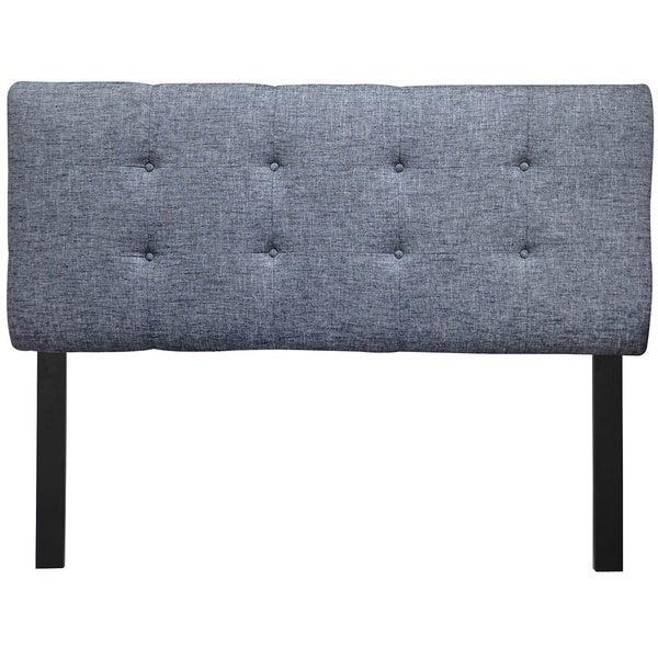 8-button Tufted Balboa Black Sand Headboard