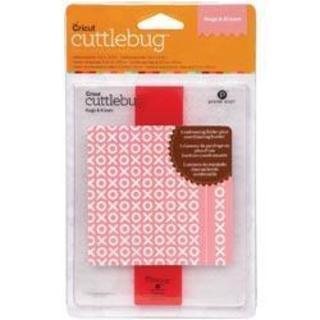 Cricut Cuttlebug A2 Embossing Folder/Border Hugs & Kisses Set