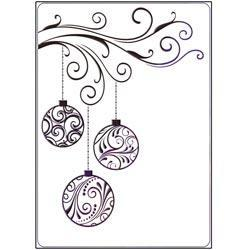 Crafts-Too Embossing Folder 4 X6 - Baubles