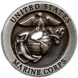 Concho 1.25 Antique Silver 1/Pkg - US Marine Corps