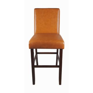 Castillian Collection of Luxury Orange Faux Leather Barstool