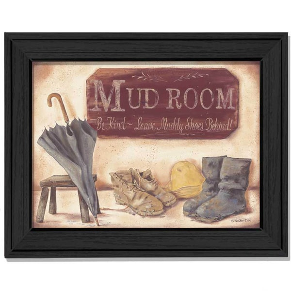 Pam Britton 'Muddy Shoes' Framed Wall Art