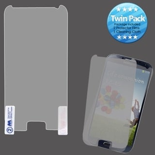 BasAcc 2 Piece Screen Protector Set for Samsung Galaxy S4