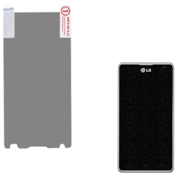 INSTEN Silver Glitter Screen Protector for LG MS870 Spirit 4G