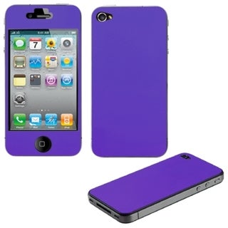 BasAcc LCD Purple Full Body Screen Protector for Apple iPhone 4S/ 4