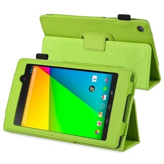 BasAcc Green Leather Case with Stand for Google New Nexus 7