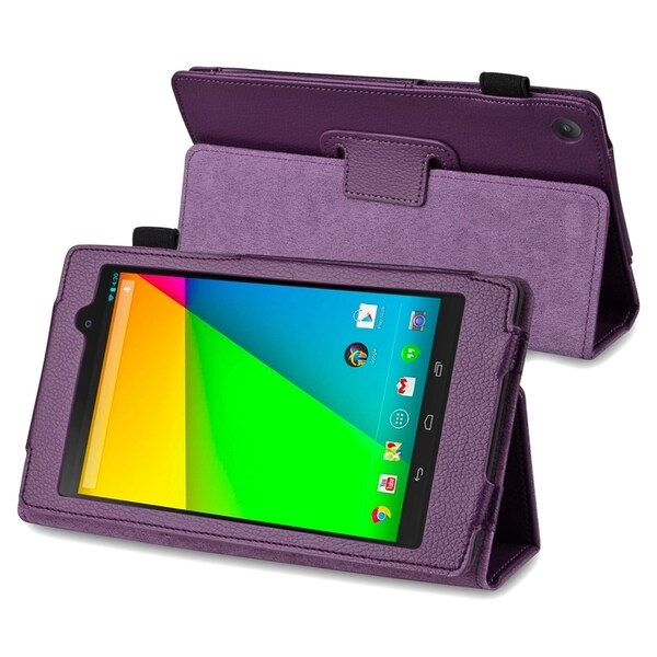 BasAcc Purple Leather Case with Stand for Google New Nexus 7