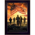 Bonnie Mohr's 'Bless America's Heroes' Framed Wall Art