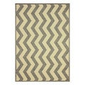 nuLOOM Modern Indoor/ Outdoor Vertical Chevron Grey Rug (9' x 12')