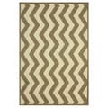 nuLOOM Modern Indoor/ Outdoor Vertical Chevron Taupe Rug (5' 3 x 7' 9)