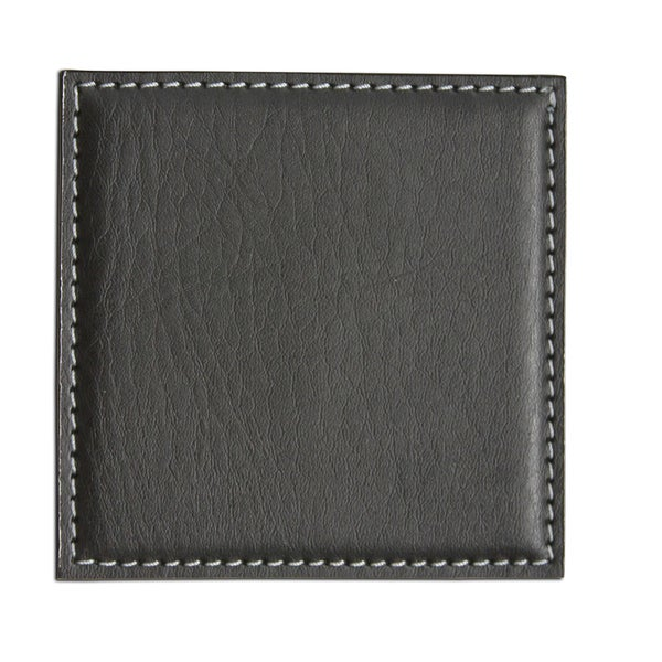 Black Low Profile Square Coaster (4-inch)