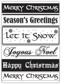 Crafts-Too Embossing Folder 4 X6 - Christmas Greetings