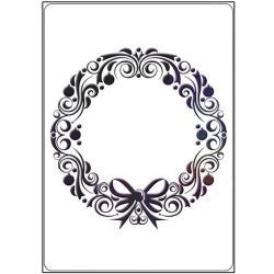 Crafts-Too Embossing Folder 4 X6 - Wreath Frame