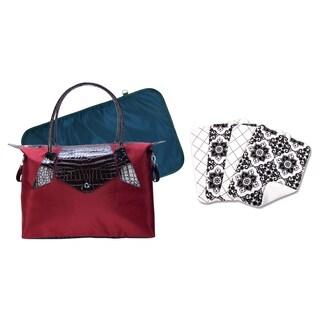 Trend Lab Burgundy Diaper Bag 6-piece Set