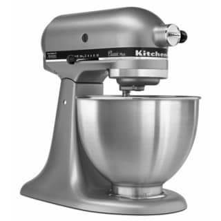 KitchenAid KSM75SL Silver 4.5-quart Classic Plus Tilt-head Stand Mixer