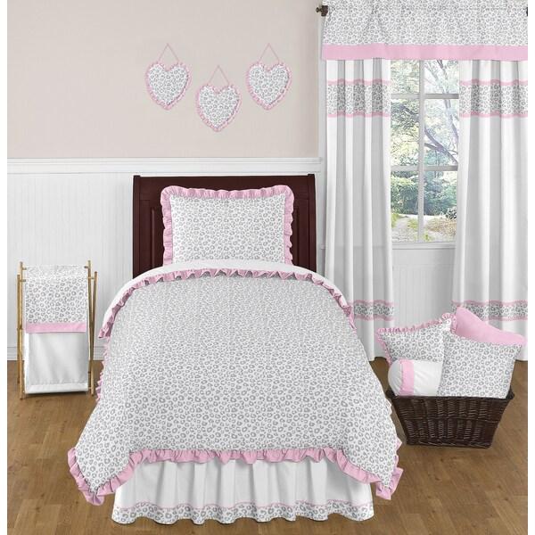 Sweet JoJo Designs Pink and Grey Kenya Bedding Set