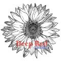 Deep Red Cling Stamp - Large Sunflower