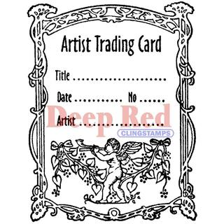 Deep Red Cling Stamp - ATC Flourish