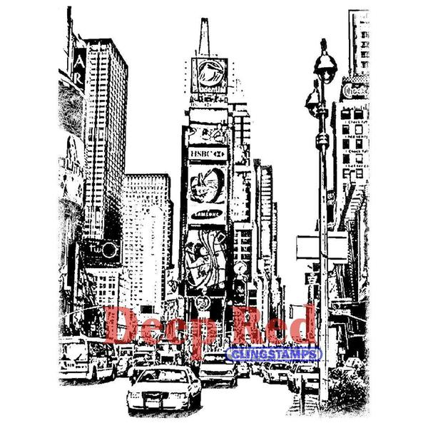 Deep Red Cling Stamp - New York Times Square