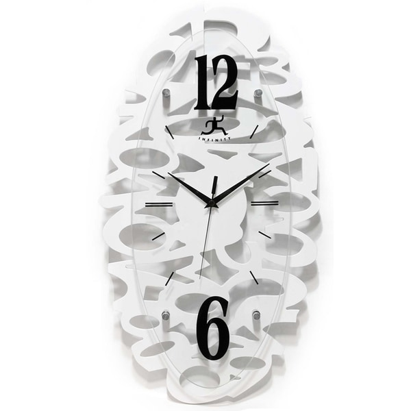 Whimsy 20.5-inch White MDF Wall Clock