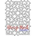 Deep Red Cling Stamp - Puzzle Background
