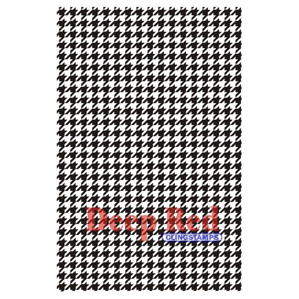 Deep Red Cling Stamp - Houndstooth