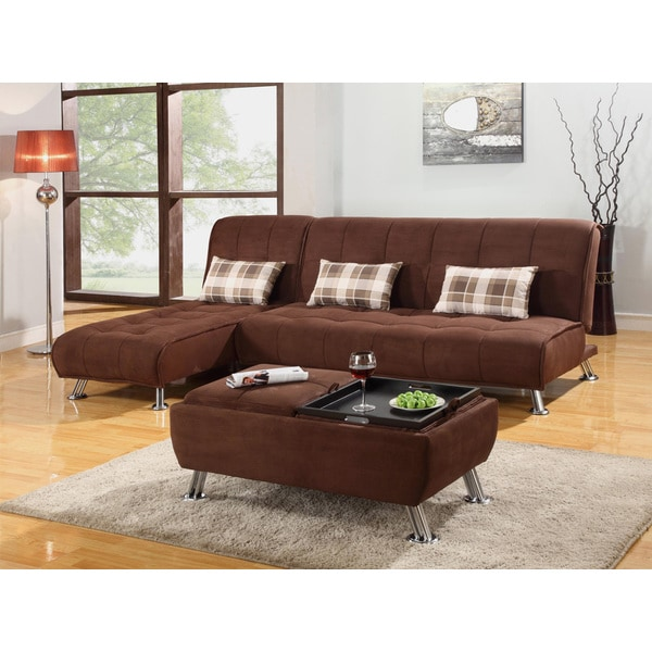 futon sectional and coffee table set overstock shopping