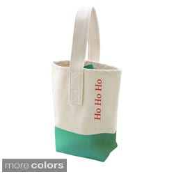 Holiday Color Dipped Wine Tote