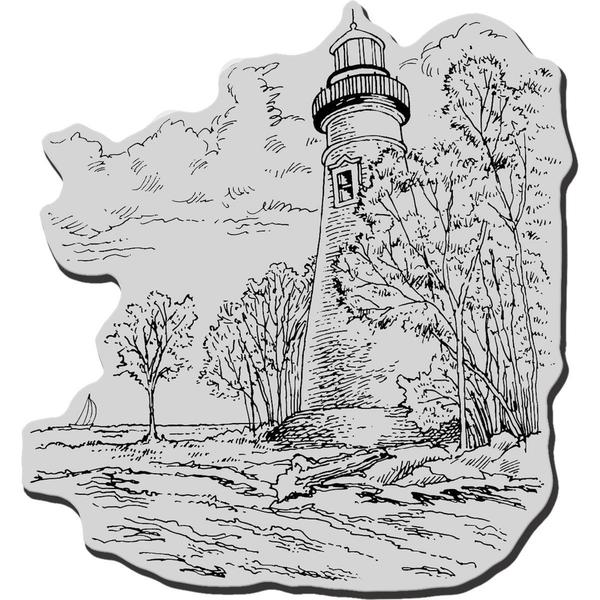 Stampendous Cling Rubber Stamp - Marblehead Lighthouse