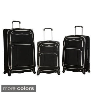Rockland Fusion Collection 3-piece Expandable Lightweight Spinner Upright Luggage Set