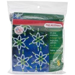 Holiday Beaded Ornament Kit - Emerald Six Point Star
