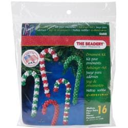 Holiday Beaded Ornament Kit - Candy Cane Assortment