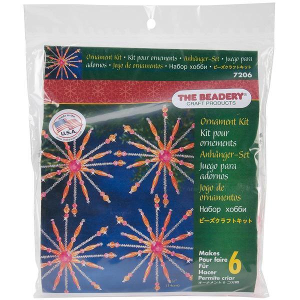 Holiday Beaded Ornament Kit - Pink & Hyacinth Sputnik Kit