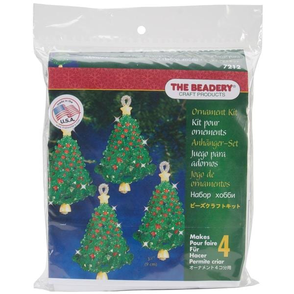 Holiday Beaded Ornament Kit - Emerald Tree Twists