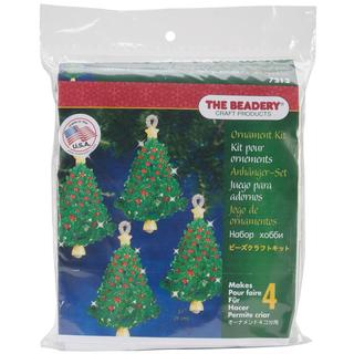 Holiday Beaded Ornament Kit - Emerald Tree Twists