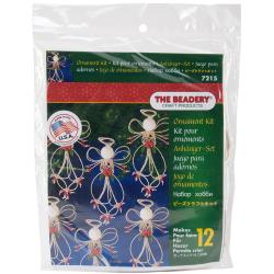 Holiday Beaded Ornament Kit - Folk Art Angel