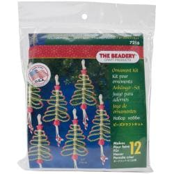 Holiday Beaded Ornament Kit - Folk Art Tree