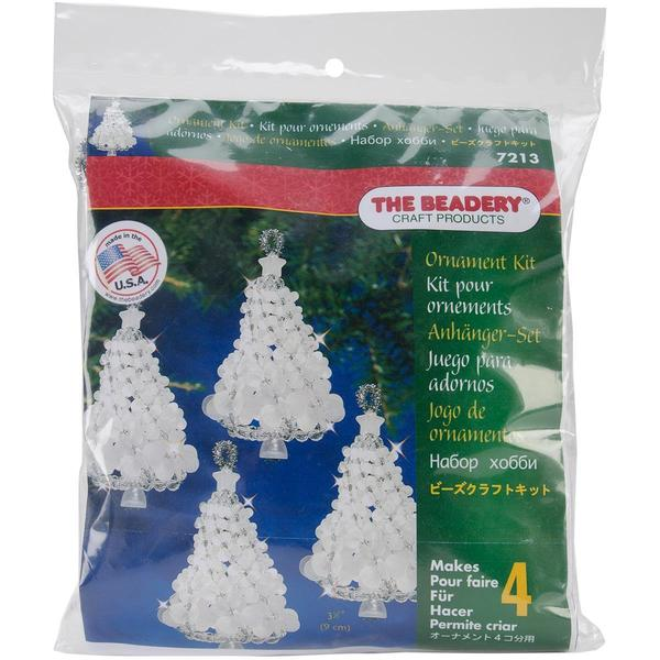Holiday Beaded Ornament Kit - Frosted Tree Twists